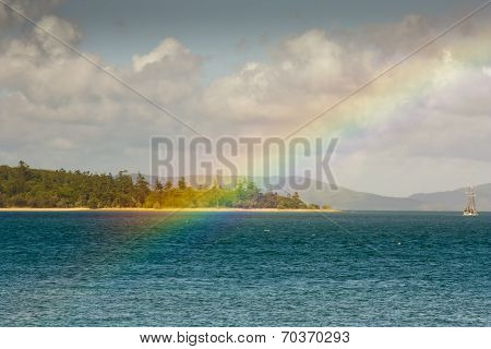 Looking At A Rainbow From Tropical Daydream Island