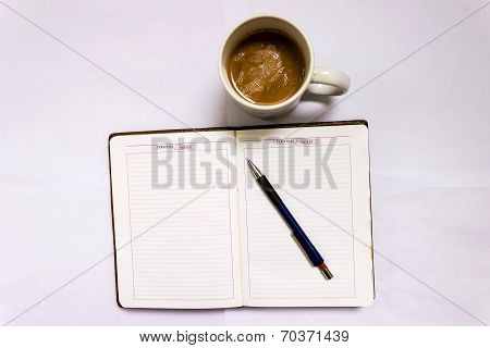 Writing personal notes daily while taking morning tea ~ Trait of a Leader