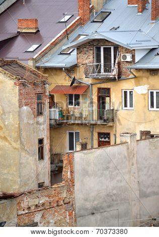 Slums In The City Of Lvov, Ukraine January 11, 2014
