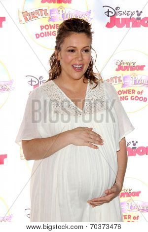 LOS ANGELES - AUG 16:  Alyssa Milano at the Disney Junior's Pirate and Princess: Power of Doing Good at Avalon on August 16, 2014 in Los Angeles, CA