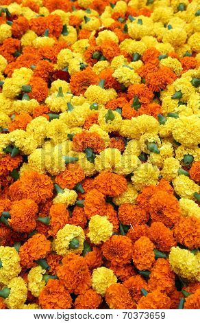 Flowers and garlands for sale