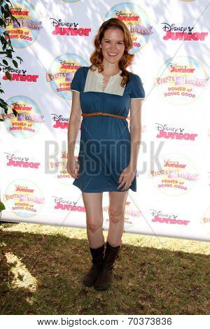 LOS ANGELES - AUG 16:  Sarah Drew at the Disney Junior's Pirate and Princess: Power of Doing Good at Avalon on August 16, 2014 in Los Angeles, CA