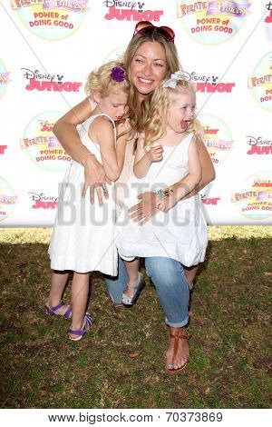 LOS ANGELES - AUG 16:  Rebecca Gayheart, Georgia Dane, Billie Beatrice Dane at the Disney Junior's Pirate and Princess: Power of Doing Good at Avalon on August 16, 2014 in Los Angeles, CA