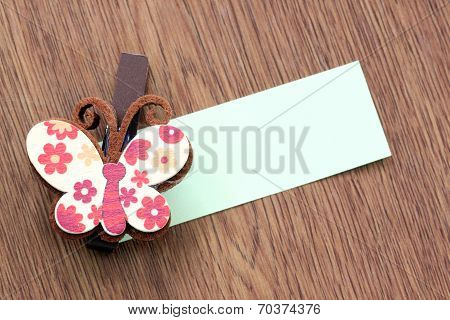 Hairpins Pattern Of Brown Butterfly.