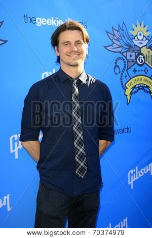LOS ANGELES - AUG 17:  Jason Ritter at the 2nd Annual Geeky Awards at Avalon on August 17, 2014 in Los Angeles, CA