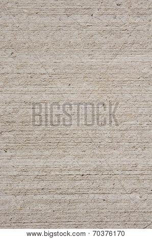 Ecru Rough Plaster On Wall Closeup