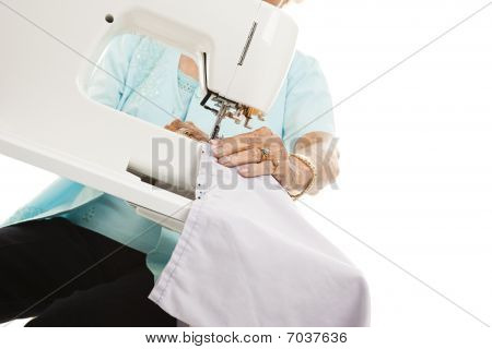 Senior Sewing Hands
