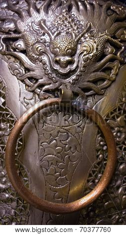 Old Style Chinese Dragon's Head Knocker Vintage Antique Handle