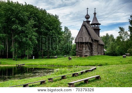 Wooden Church In Russia.