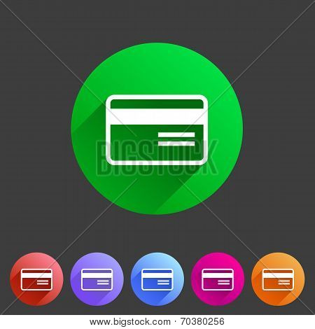 Bank credit card flat icon