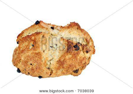 Irish Soda Bread On White Background