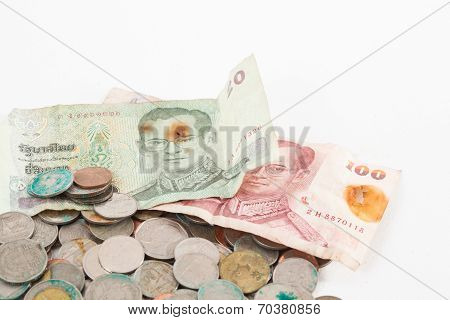 dirty thai coins