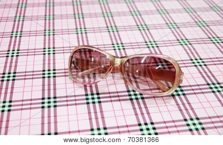 Pink Sunglasses On The Table.
