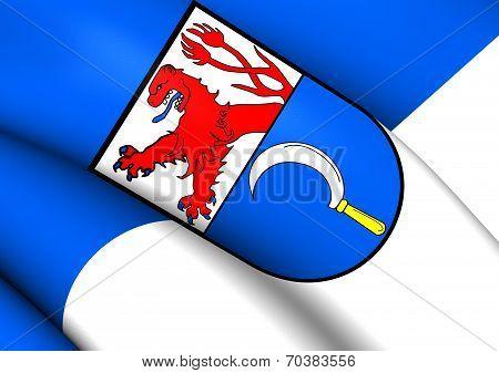 Flag Of Remscheid, Germany.