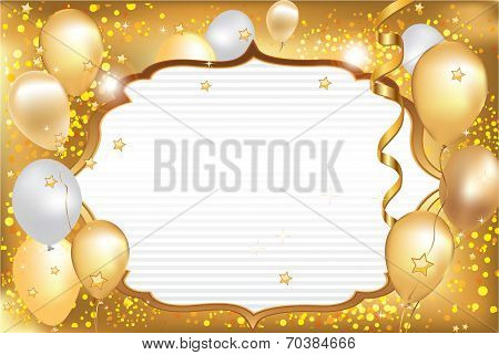Celebration background / card with balloons