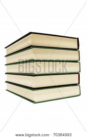 Hardcover Books Isolated