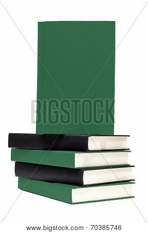 Stack Of Books With Front Cover Blank