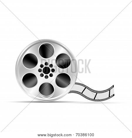 Old motion picture film reel