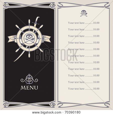 Menu bar with pirate