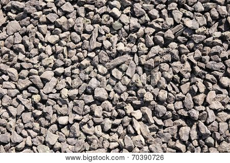 Crushed Stone, Brown Gravel Closeup