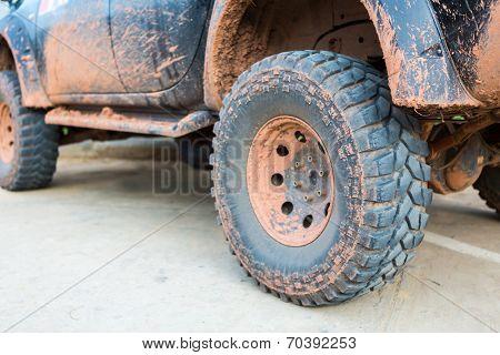 Muddy wheel