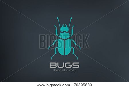 Bug Logo abstract vector design template. Insect Logotype concept.