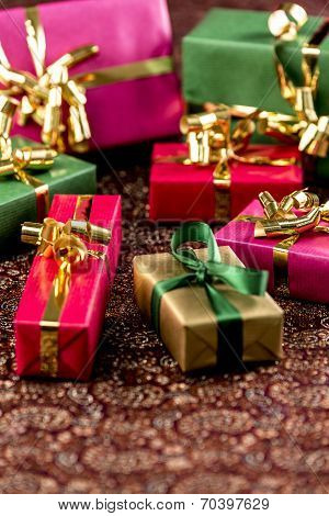 Seven Little Presents with Bows