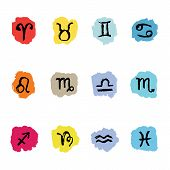 image of pisces horoscope icon  - Horoscope Zodiac Star signs - JPG