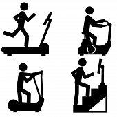 image of elliptical  - Work at gym - JPG