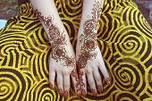 image of mehendi  - Hands of a young girl - JPG
