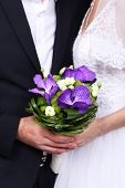 pic of fiance  - bride and fiance gets on the hip a beautiful wedding bouquet - JPG