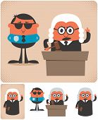 picture of magistrate  - Illustration of cartoon judge in 4 different versions - JPG