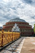 picture of knightsbridge  - Royal Albert Hall as seen from Kensington Gardens in London - JPG