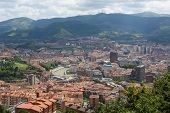 foto of basque country  - Panorama on the center of Bilbao Basque country Spain.