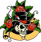 stock photo of skull crossbones  - Gentleman - JPG