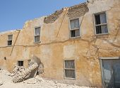pic of derelict  - Old derelict abandoned building in an african egyptian town - JPG