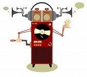 foto of jukebox  - Funny old style jukebox illustration for design - JPG