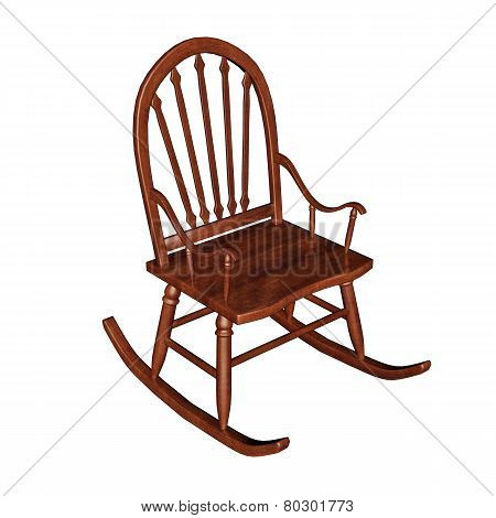 Rocking chair - 3D render