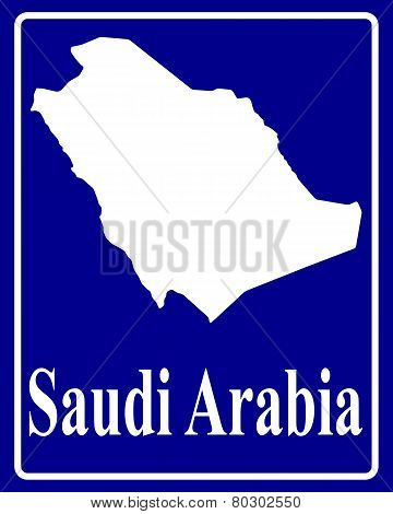 Silhouette Map Of Saudi Arabia