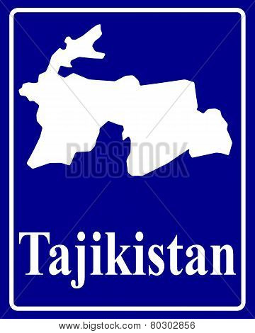 Silhouette Map Of Tajikistan
