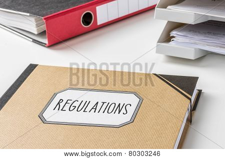 A folder with the label Regulations