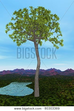 Glossopteris tree - 3D render