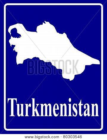 Silhouette Map Of Turkmenistan