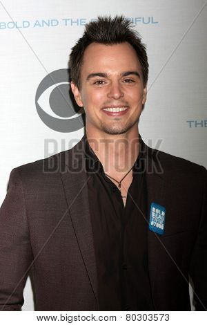 LOS ANGELES - JAN 14:  Darin Brooks as the  Bold and Beautiful Celebrates 7000th Show at a CBS Television City on January 14, 2015 in Los Angeles, CA