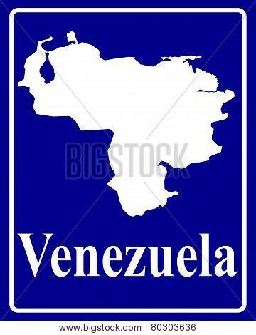 Silhouette Map Of Venezuela
