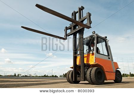 Forklift Loader Outdoors