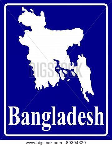 Silhouette Map Of Bangladesh