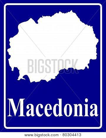 Silhouette Map Of Macedonia
