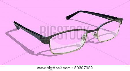 Reading Glasses on Pink