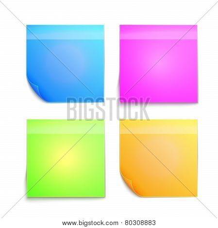 Colorful sticky note